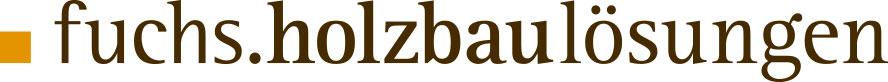fuchs.holzbaulösungen – individuelle Holzhäuser Logo