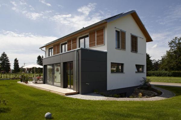Fellheim, Hausbau, Haus, Holzbau, Holzhaus, Neubau, kein Fertighaus